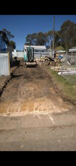 Excavation / soil &amp concrete removal / site clean up , rubbish removal