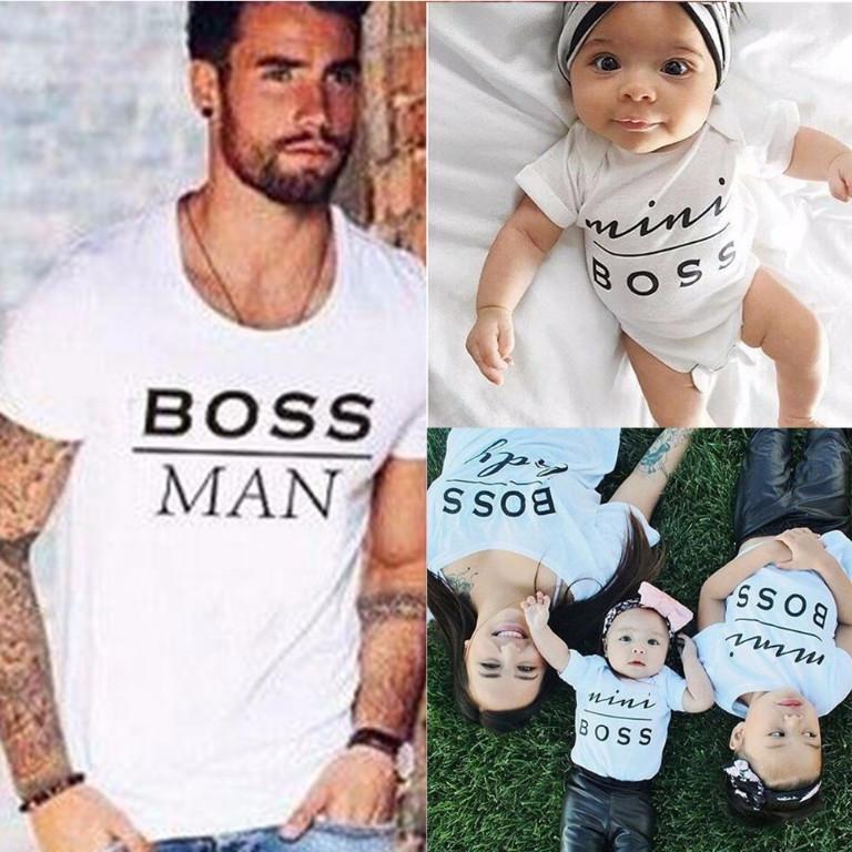 Mini Boss Print t-Shirts For Your Mini Boss at Home