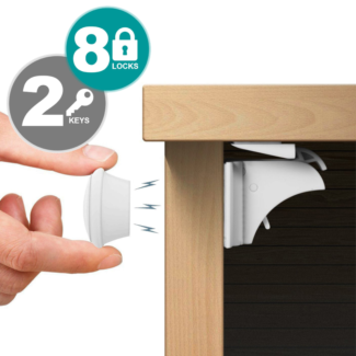 Magnetic Safety Baby Lock for Kitchen Drawer, Cupboards, Cabinets