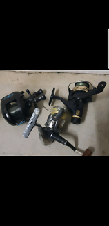 Tackle box with lures 3 fishing reels