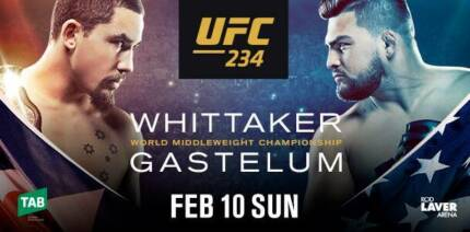 Selling 2x UFC 234 tickets (Best seats in the house. No profit)