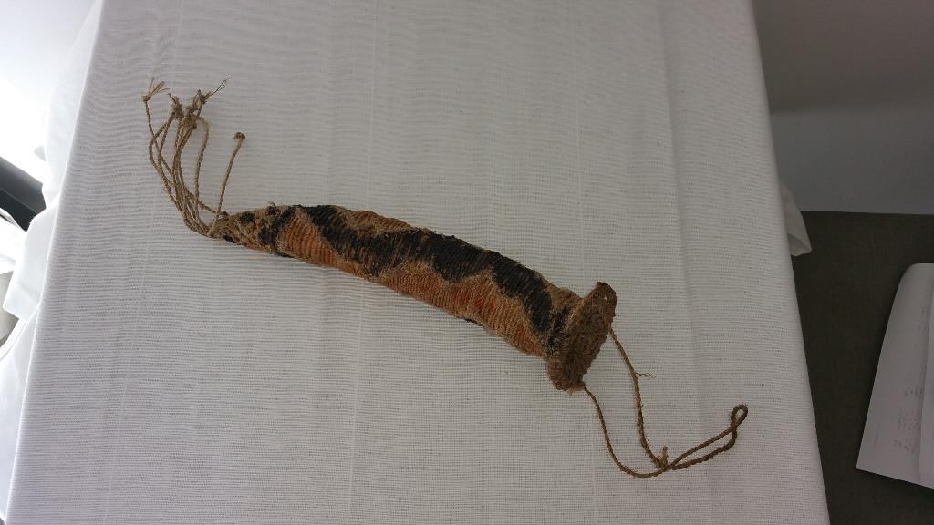 Decorative penis gourd cover sheath from Papua New Guinea
