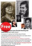 Free Custom your Portrait drawing and paint Not include postage