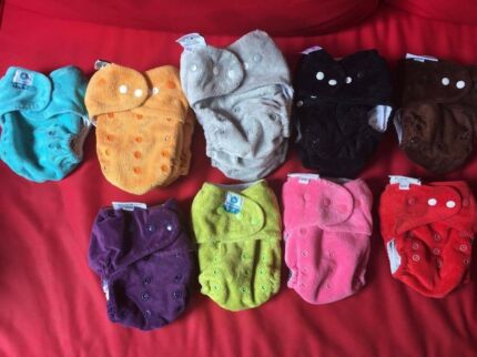 13 Itti cloth Nappies and their bamboo insert
