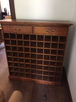 Timber wine cabinet