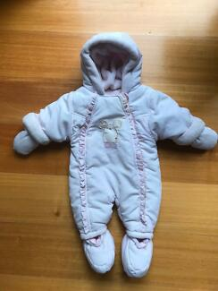 Newborn Baby girl winter warm snowsuit coat from mother care