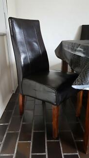 Vintage Dining Table 6 Matching Chairs Coffee Table - 6 Seate