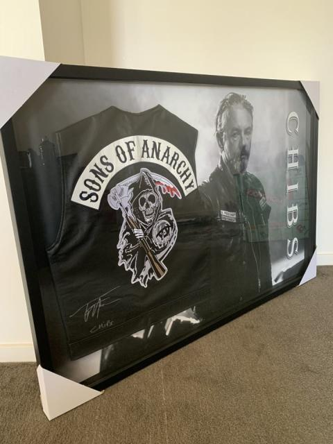 Sons Of Anarchy Framed Vest *Licensed Signed by Chibs