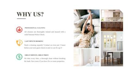 Professional Airbnb Cleaning from $60, linen supply available!