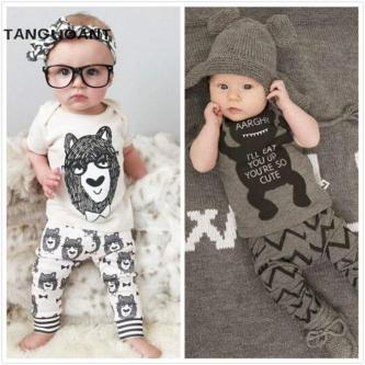 Little Monsters Short Sleeve Infant Clothes